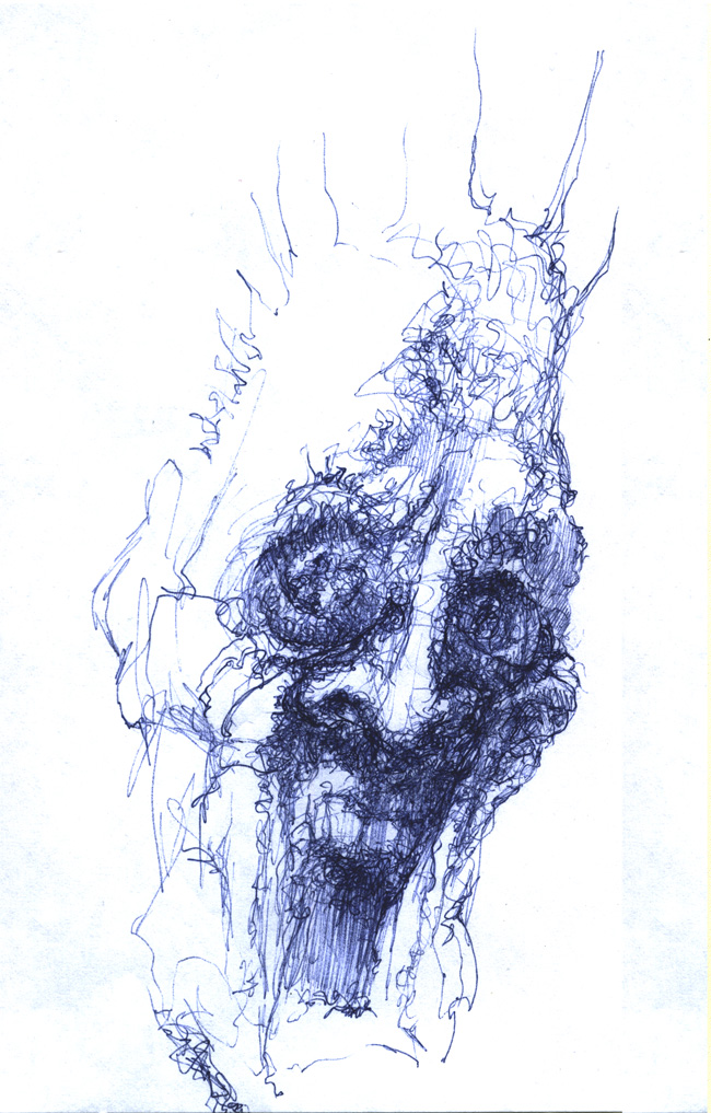Horrified head study