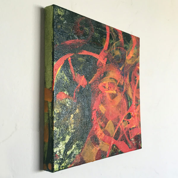 Molten Features: 8-inch canvas from an angle